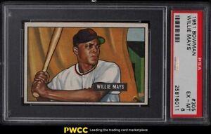 1951 Bowman Willie Mays ROOKIE RC #305 PSA 6 EXMT