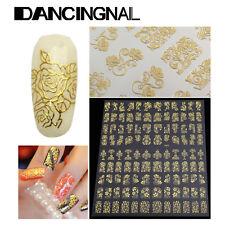 108pcs 3D Flower Design Nail Art Manicure Tips Stickers Decals DIY Decoration US
