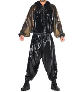 100% Latex gummi rubber jumpsuit catsuit ganzanzug sport draussen mode bodysuit