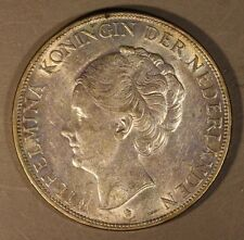 1932 Netherlands 2 1/2 Gulden Silver Higher Grade        **FREE U.S. SHIPPING
