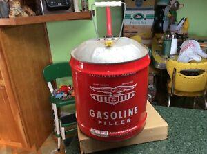 Vintage Eagle Gasoline Filler 5 US Gallon 1005 Metal Can w Spout