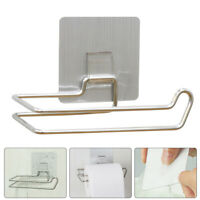 Adhesive Toilet Paper Holder Wall Mount Stainless Steel Hanging Organizer New