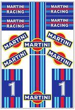 Set 12 Vinile Adesivi Martini Racing Lancia Delta Vinyl Stickers Auto Moto Casco