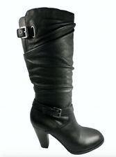 Guess Magy Black Leather Womens Boots Shoes Size 6