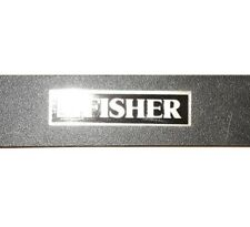 Fisher RA-M140 | Black & Chrome w/Glass Component Cabinet (New!)