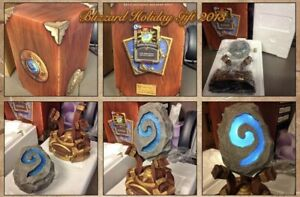 🔥 HEARTHSTONE STATUE SCULPT 2013 Blizzard Employee ONLY Holiday Gift SEALED NIB