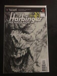 VALIANT HARBINGER RENEGADE #6 B&W 1:50- NM! Variant-Rare! HTF!
