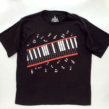 PIANO MUSIC NOTES BEAT IT MICHAEL JACKSON VIDEO RETRO BLACK T SHIRT SIZE XL