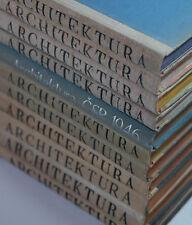 ARCHITEKTURA Czech Journal on Modern Architecture Interiors 19 Full Years! RARE