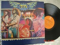"""REO Speedwagon – """"You Get What You Play For""""  Vintage LP  Epic  PEG 34494 q2"""