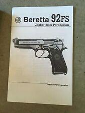 gun manuals for beretta for sale ebay rh ebay com beretta 92fs compact owners manual beretta m9 owners manual