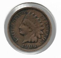 Rare Old Antique US 1906 Indian Head Penny Cent Collectible Collection Coin W23