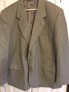 Hardy Amies 48PR 2 Button Sport Coat Blazer Jacket Vintage Mens Brown RN# 84126