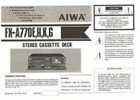 AIWA FX A770 - SORTING SYSTEM - USER OWNER'S MANUAL - EN DE FR ES IT JP, 日本語 -