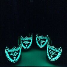 X FOUR EMPTY BOTTLES!!! DOM PERIGNON LUMINOUS CHAMPAGNE EMPTY BOTTLES.
