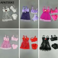 "6SETS Fashion Dress For 11.5"" Dolls Clothes Pajamas Lingerie Nightwear Dresses"
