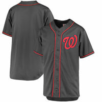 Washington Nationals MLB Men's Charcoal Fashion Big & Tall Team Jersey