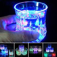 Inductive Colorful LED Wine Whisky Cup Flash light Glass Bar Party Beverage Mug