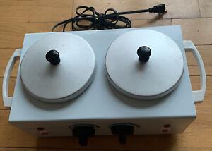 Wax Heater Dual Warmer Salon Edge Removable Pot 110 Volt Control Temperature