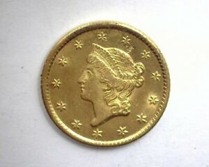 1849-O LIBERTY HEAD $1 GOLD OPEN WREATH CHOICE UNCIRCULATED SCARCE THIS NICE!!