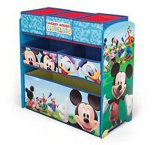 DISNEY Mickey Mouse In Legno Multi CESTINO PORTAOGGETTI Giocattolo Bambini Kids SCATOLA di immagazzinaggio di nuovo