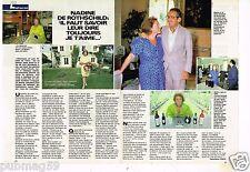 Coupure de presse Clipping 1987 (2 pages) Nadine de Rothschild