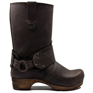 Sanita 'Mohawk' Danish Clog Boots in Antique Brown (Art:452203) - Wooden