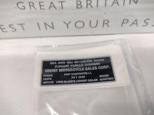 NOS Vintage American Motorcycle Decals Harley BSA Ariel AJS Triumph Indian #5