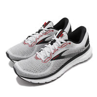 Brooks Glycerin 18 Grey Black Red White Men Road Running Shoes 110329-1D-094