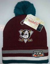 Mitchell & Ness Mighty Ducks hockey NHL BEANIE CAPPELLO INTERNATIONAL SHIPPING