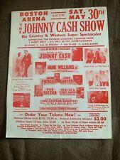 Johnny Cash Show June Carter Hank Williams Jr. Poster Advertising Program