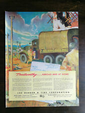 Vintage 1945 Lee Rubber & Tire WWII Full Page Original Color Ad