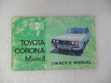 Toyota CORONA    1972 Owners Manual 17223