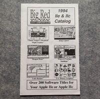 Big Red Computer Club Apple II Catalog IIe IIc vintage computer games / software