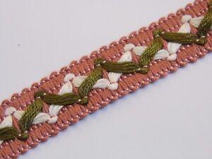 pink white green upholstery trim gimp fabric trimming edge per meter 20mm T025