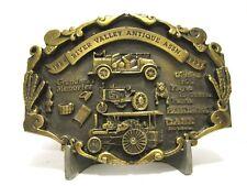 1993 River Valley Antique Belt Buckle NORSCOT Caterpillar Cat HOLT Case Tractor