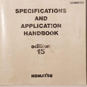KOMATSU Specifications and Application Edition 15 Handbook HEHB0015