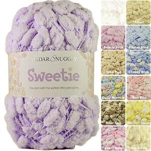 Sirdar Snuggly Sweetie 200g Pom Pom Baby Knitting Yarn - NEW SHADES JUST IN