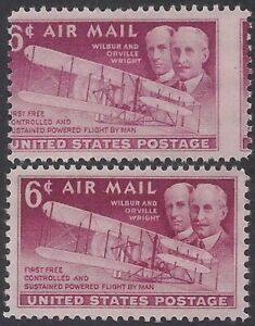 """C45 - Very Scarce Misperf Error / EFO """"The Wright Brothers"""" Mint NH"""