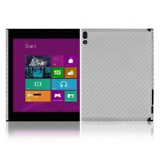 Skinomi Carbon Fiber Silver Skin+Screen Protector for Lenovo ThinkPad Tablet 2