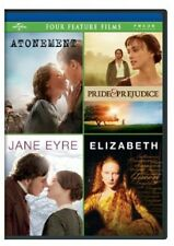 Atonement/Pride and Prejudice/Jane Eyre/Elizabet DVD Region 1 AWS