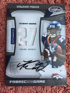 #2/5 ONLY 5) 2009 CERTIFIED AUTO AUTOGRAPH JERSEY PATCH KNOWSHON MORENO RC