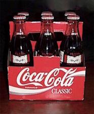RARE! 1998 Full 6-pack ELVIS PRESLEY Graceland COCA-COLA 8-0z. EPE Bag + Tissue