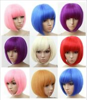 Sexy BOBO Full Wig Multiple Colors Cosplay Costume Anime Halloween Party Hair