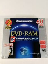 2 Pack Panasonic DVD-RW Blank Media LM-AF60U2 60 Minutes 2.8 GB Double Face