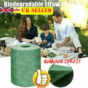 10M Biodegradable Grass Seed Mat Lawn Planting Fertilizer Pads Garden Picnic UK