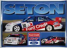 V8 Supercars Glenn Seton 1997 Ford Credit Falcon Poster