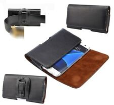 for SAMSUNG GALAXY C9 PRO Genuine Leather Case Belt Clip Horizontal Premium