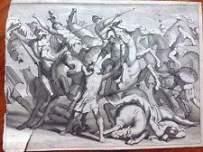 Guerra di Troia mitologia greca acquaforte 1667.Le Metamorfosi di Ovidio