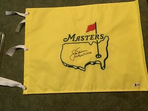 jack nicklaus signed Masters Flag All Wins Inscribed Beckett Coa Letter Golf